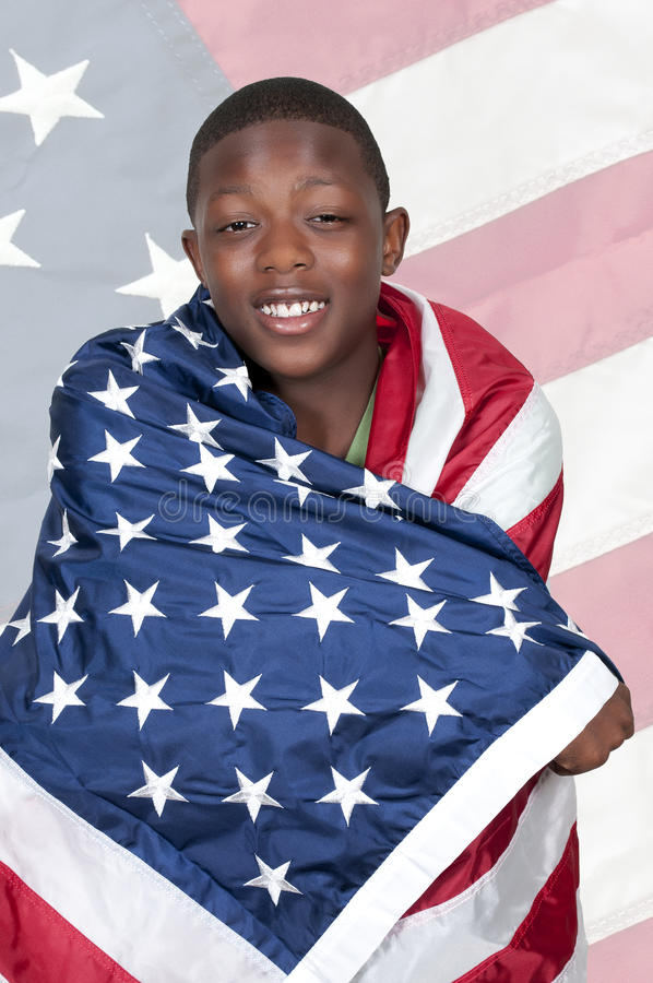Человек с флагом стоковая фотография