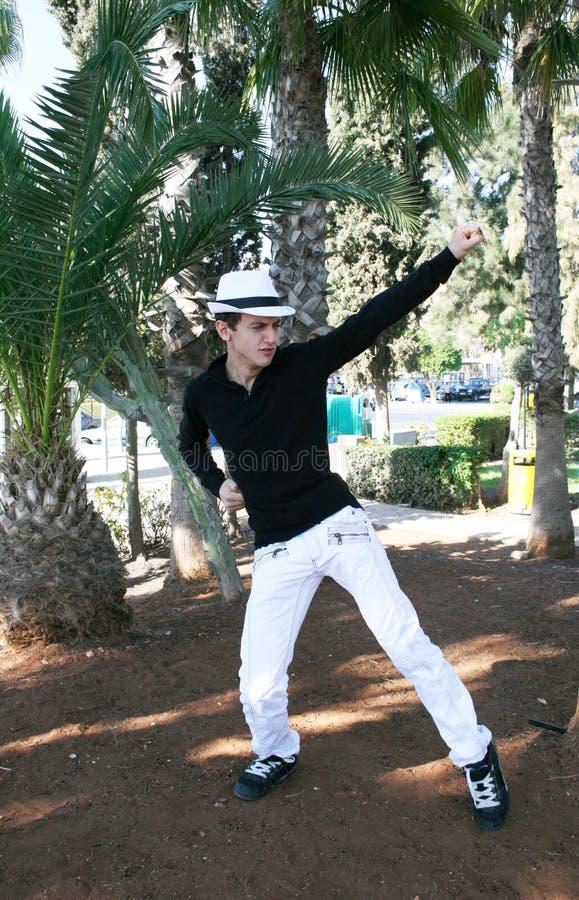 человек танцы стоковая фотография rf