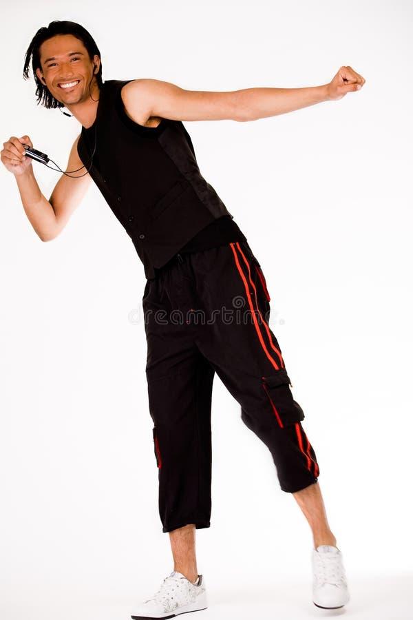 человек танцы стоковое изображение rf