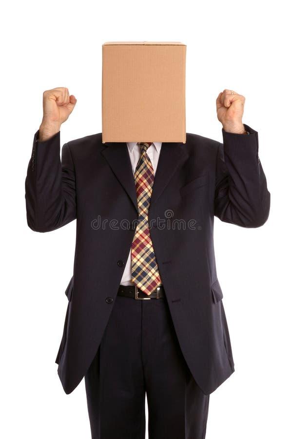 человек торжества коробки стоковая фотография