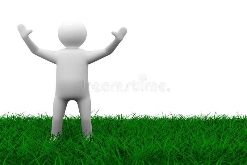 человек травы счастливый бесплатная иллюстрация