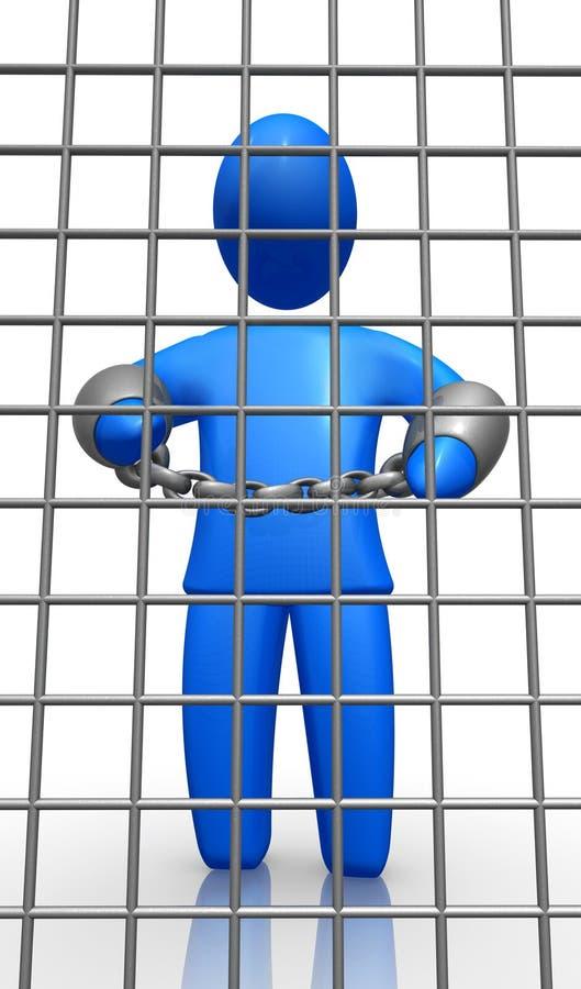 человек тюрьмы бесплатная иллюстрация