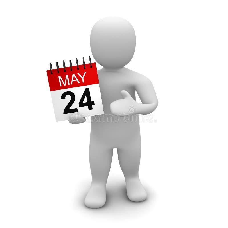 человек удерживания календара иллюстрация штока