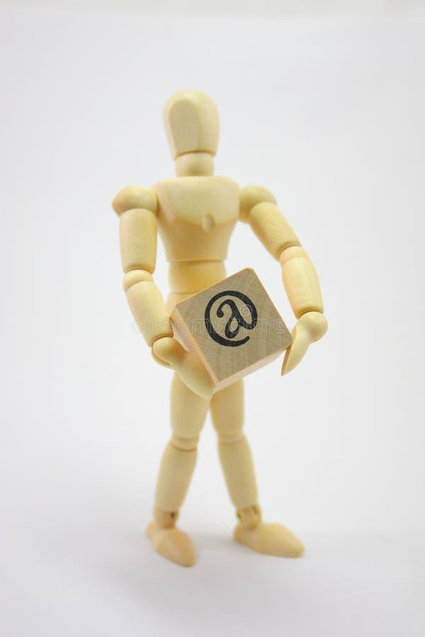 человек удерживания коробки 3d стоковые фотографии rf