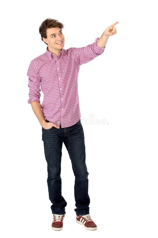 Download человек указывая детеныши стоковое фото. изображение насчитывающей изолировано - 18397688