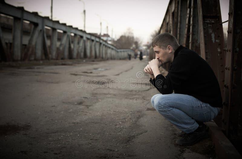 человек унылый стоковая фотография