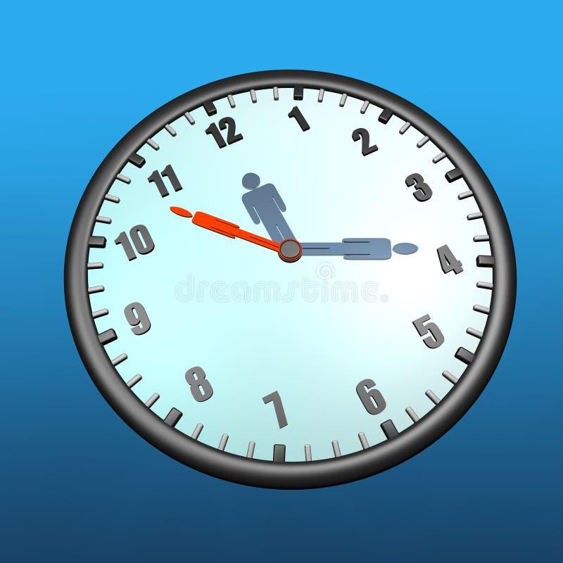 человек часов иллюстрация штока