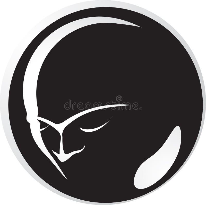 человек черной стороны стоковое изображение rf