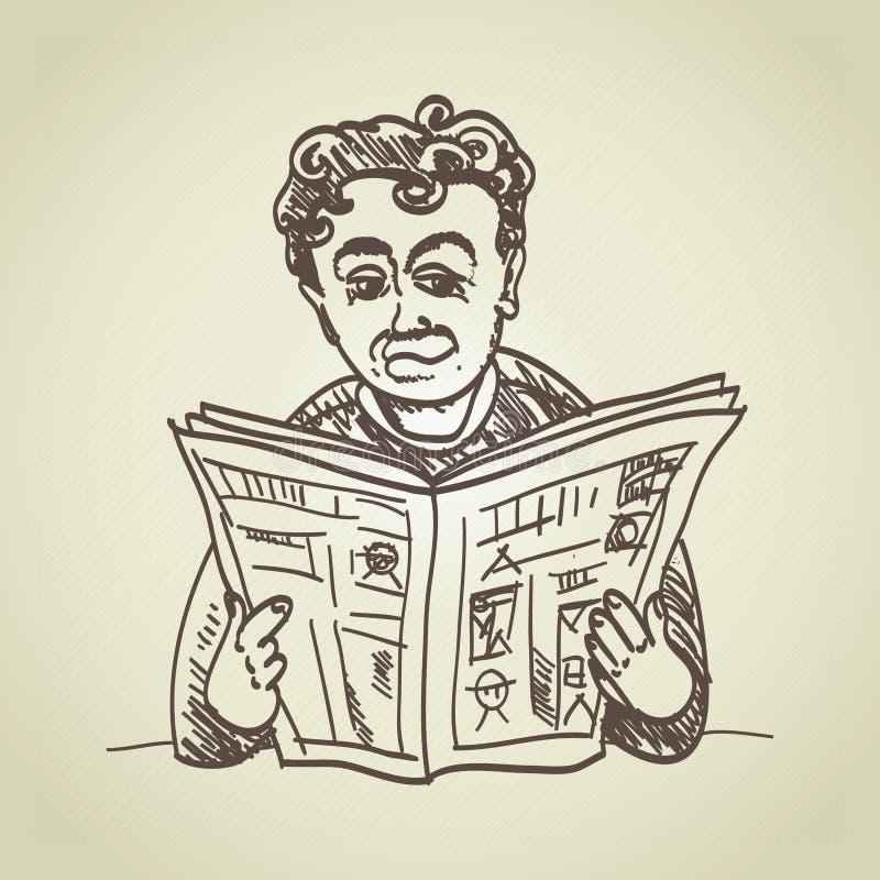 Человек читает весточку бесплатная иллюстрация