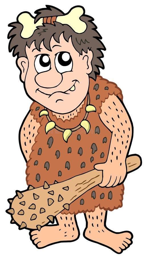 человек шаржа доисторический бесплатная иллюстрация