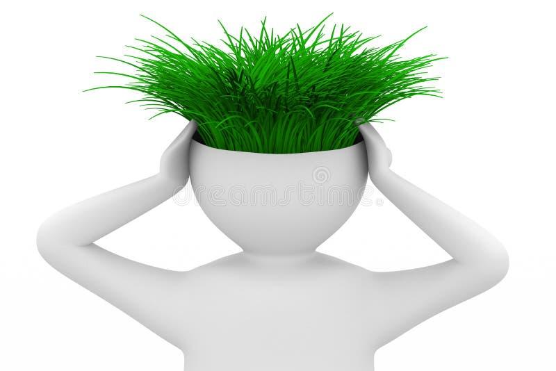 человек экологичности думает иллюстрация вектора