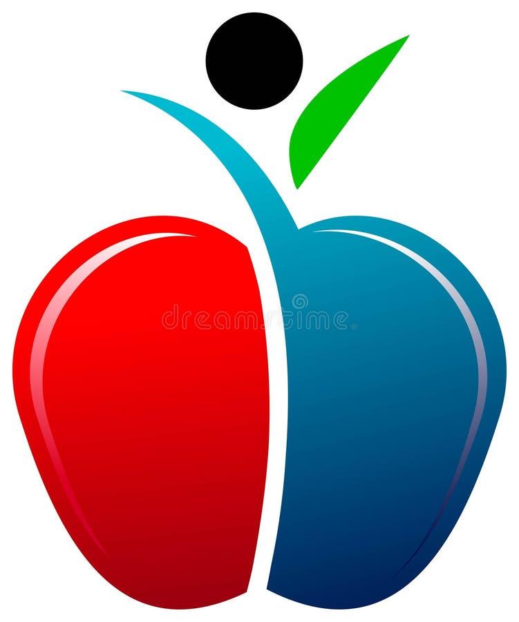 человек яблока иллюстрация вектора