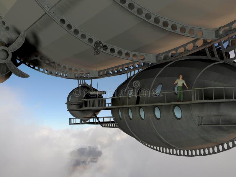 человек airship иллюстрация вектора