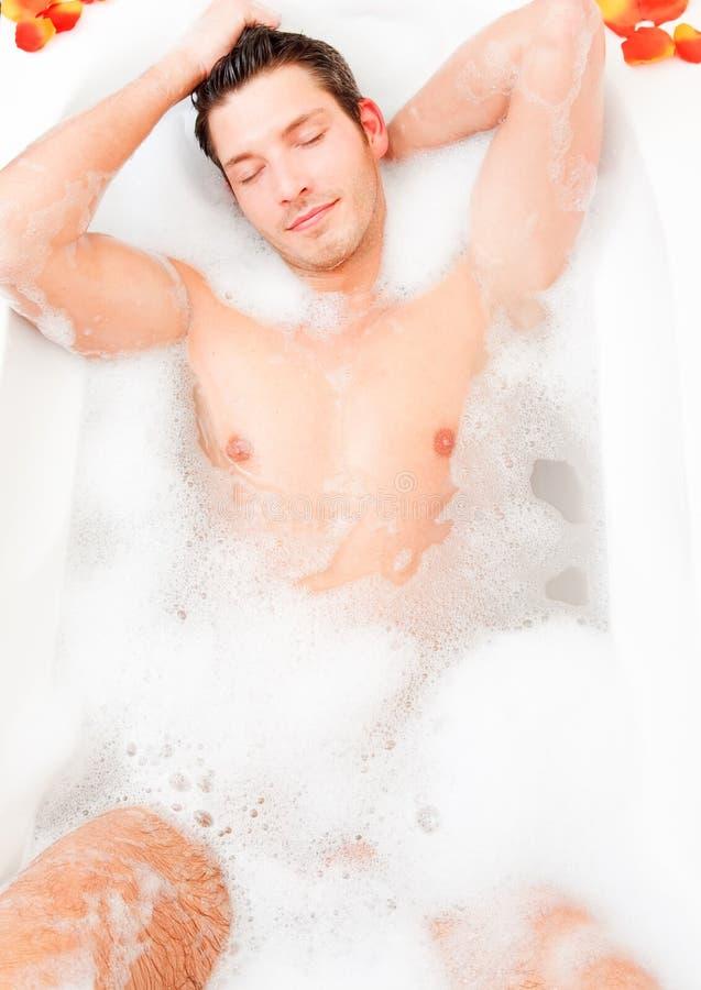 человек bodycare bathtube ванны стоковые изображения