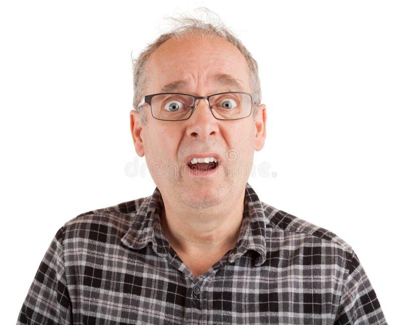 Человек dumbstruck о что-то стоковые фотографии rf