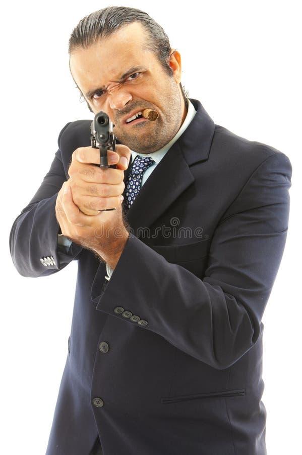 человек firegun стоковое фото