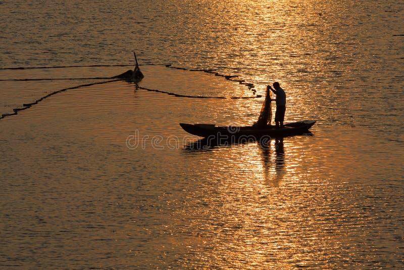 человек fisher стоковая фотография rf