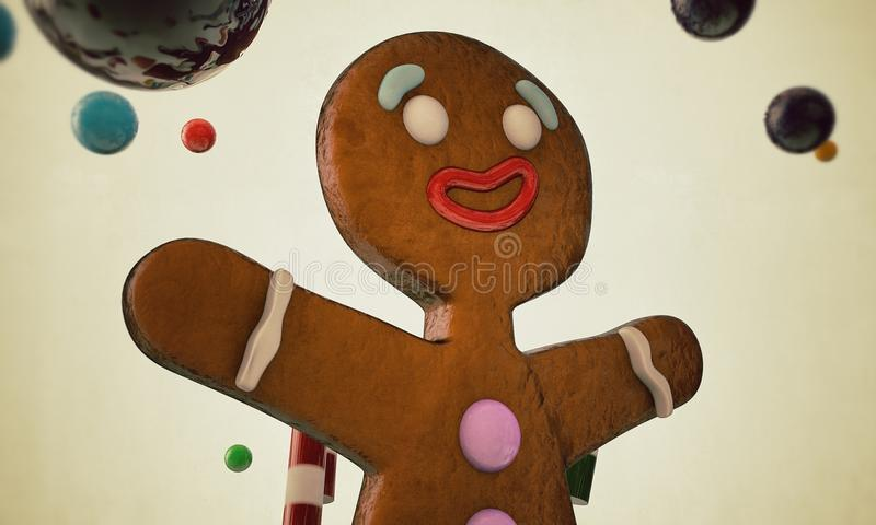 Человек Gingerbread иллюстрация штока