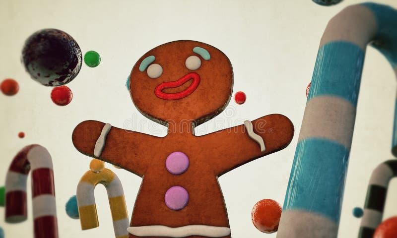 Человек Gingerbread бесплатная иллюстрация