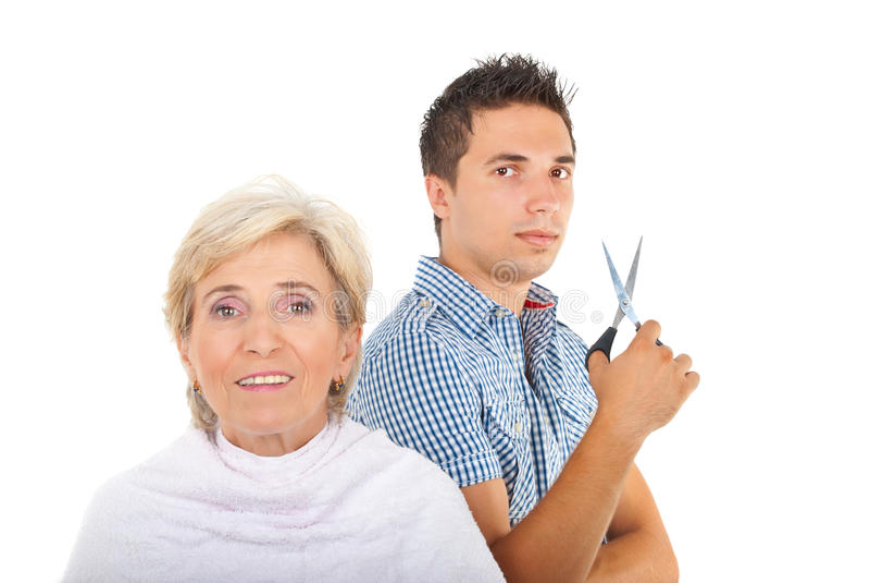 человек hairstylist стоковое фото rf