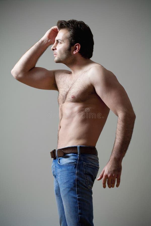 человек musculous стоковое фото rf