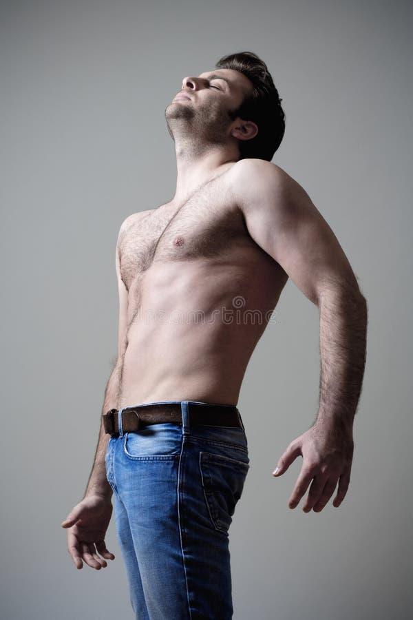 человек musculous стоковая фотография rf