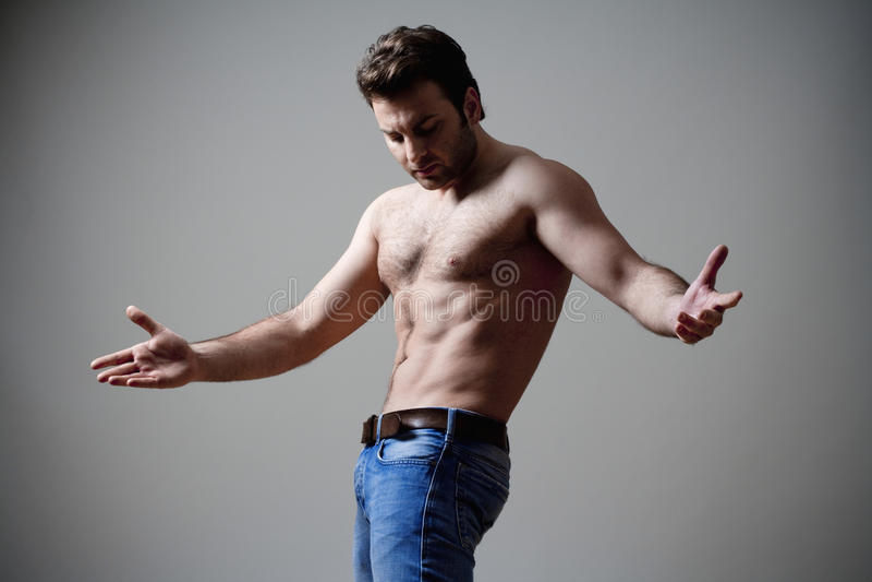 человек musculous стоковое фото