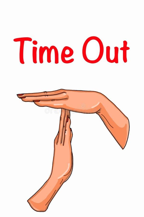 Человеческие мужские или женские руки приурочивают вне иллюстрацию чертежа illusration иллюстрация вектора