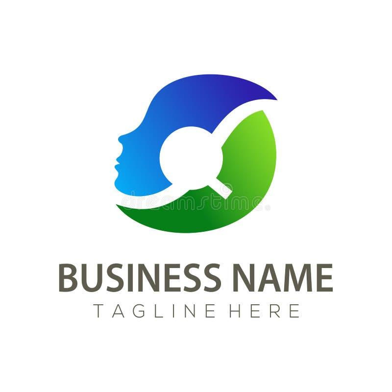 Человеческие ресурсы логотип и дизайн значка бесплатная иллюстрация