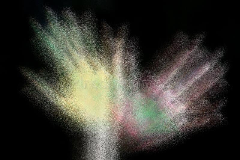 Человеческие руки покрашенные с цветом плаката Съемка с влиянием нерезкости объектива стоковые фото