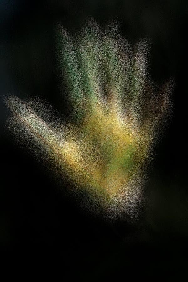 Человеческие руки покрашенные с цветом плаката стоковые фотографии rf