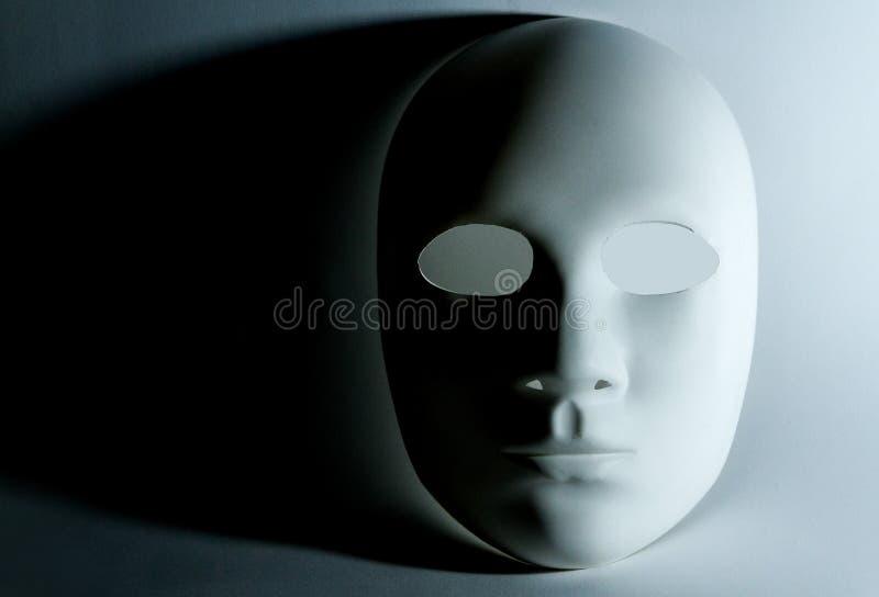 Человеческий белый лицевой щиток гермошлема стоковое изображение