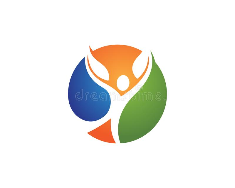 Человеческий знак логотипа характера иллюстрация штока