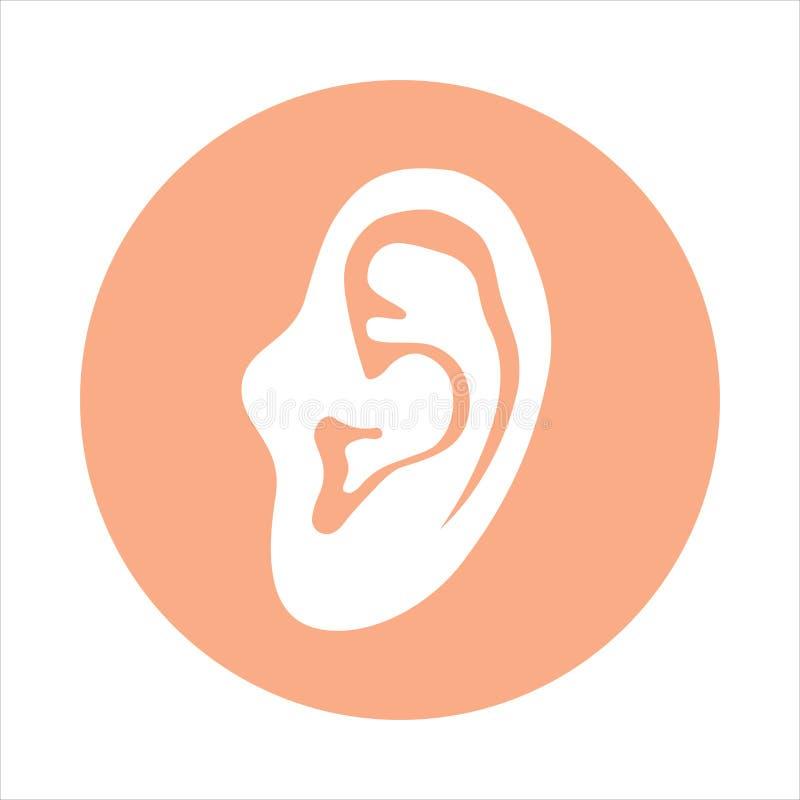 Человеческий знак уха иллюстрация штока