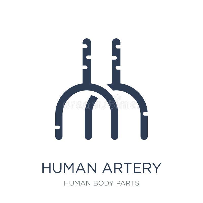 Человеческий значок артерии Значок артерии ультрамодного плоского вектора человеческий на белизне бесплатная иллюстрация