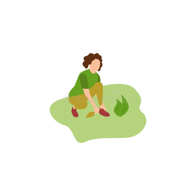 Человеческий садовничать хобби иллюстрация штока