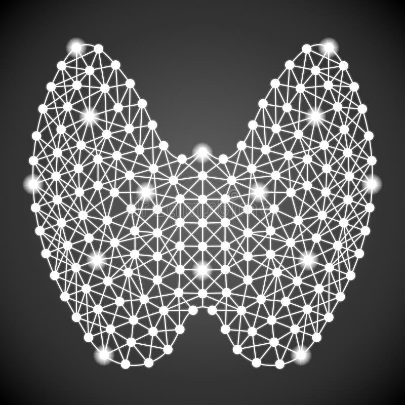 Человеческий тиреоид изолированный на черной предпосылке также вектор иллюстрации притяжки corel иллюстрация штока
