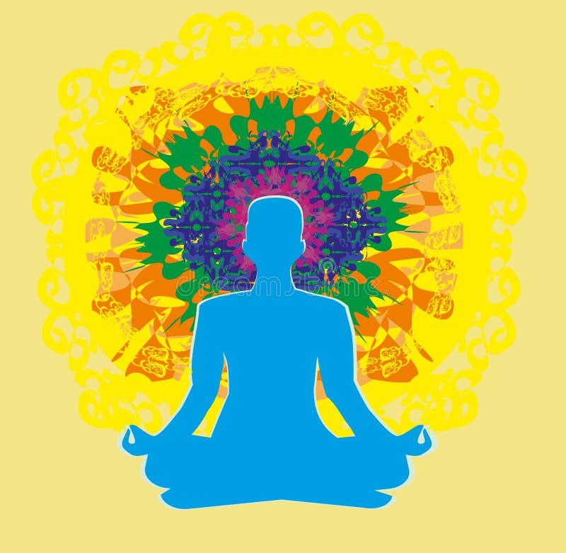 Человеческое тело энергии, аура, chakra, энергия иллюстрация штока