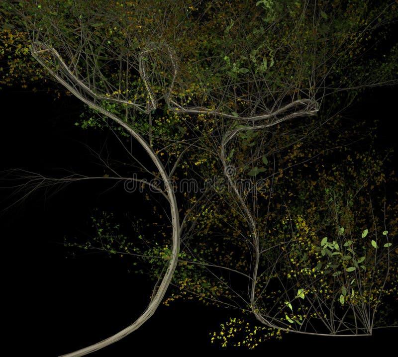 Человеческое форменное дерево растя иллюстрация 3d бесплатная иллюстрация