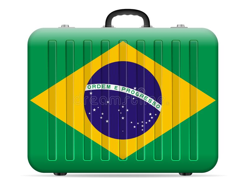 Чемодан перемещения флага Бразилии бесплатная иллюстрация