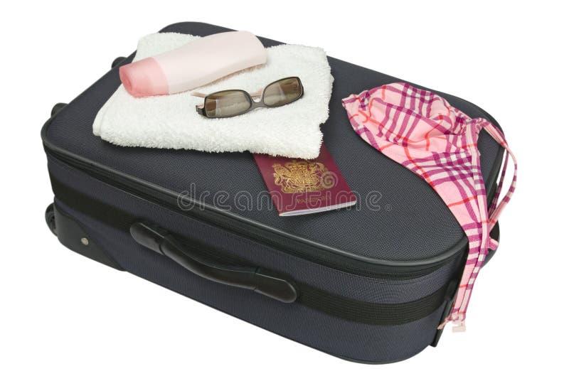 чемодан праздника стоковая фотография rf