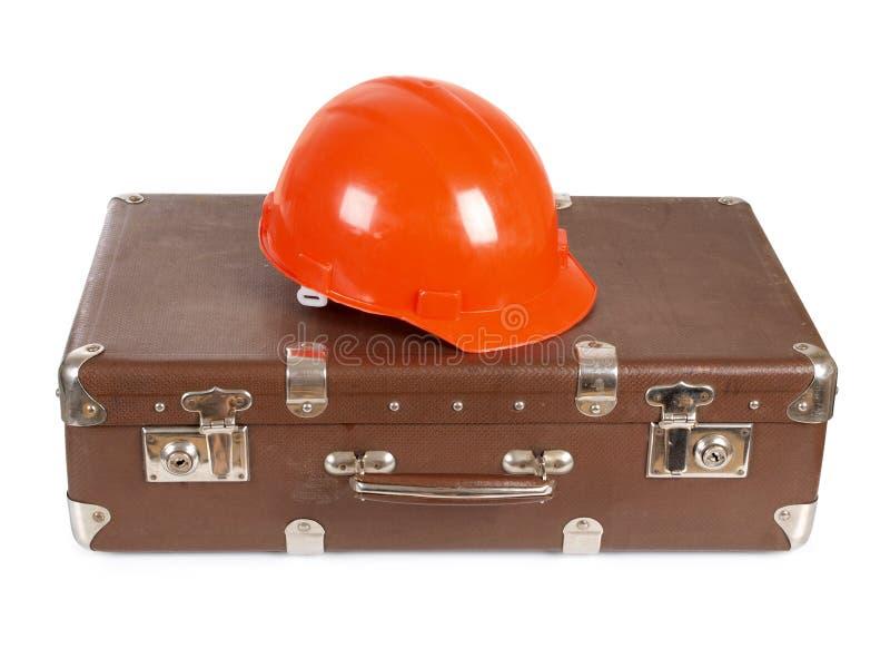 чемодан шлема стоковое изображение
