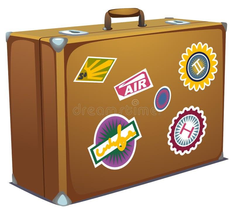 чемодан иллюстрация штока