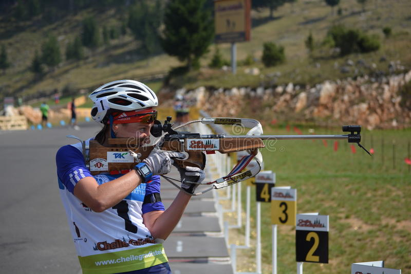 Чемпионаты мира биатлона лета IBU, Cheile Gradistei, 2015 стоковая фотография