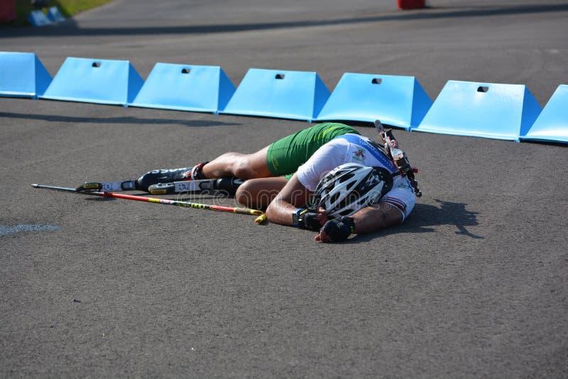 Чемпионаты мира биатлона лета IBU, Cheile Gradistei, 2015 стоковая фотография rf