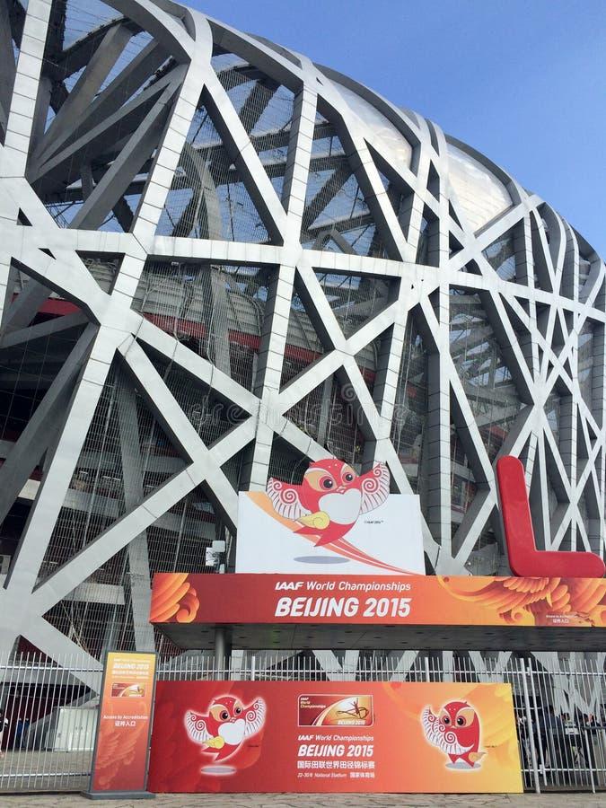 Чемпионаты мира IAAF в гнезде птицы, Пекине, Китае стоковое изображение rf