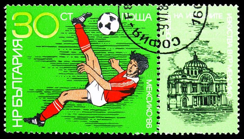 Чемпионаты футбола 1986 кубков мира, serie футбола кубка мира, около 1986 стоковые фото