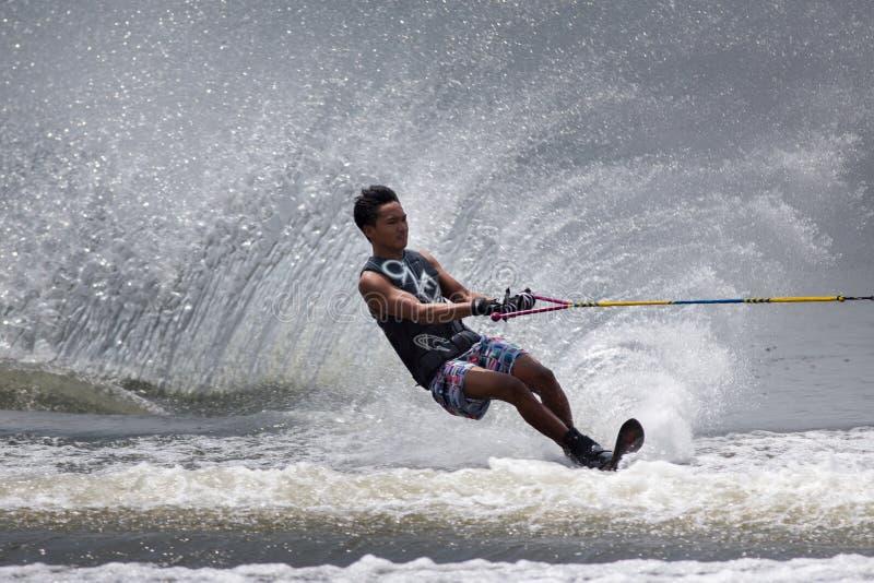 Чемпионаты 2014 лыжи & бодрствования Путраджайя Nautique стоковые фотографии rf