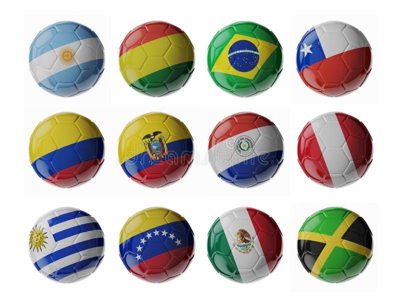 Чемпионат 2015 американского футбола Футбол/футбольные мячи бесплатная иллюстрация