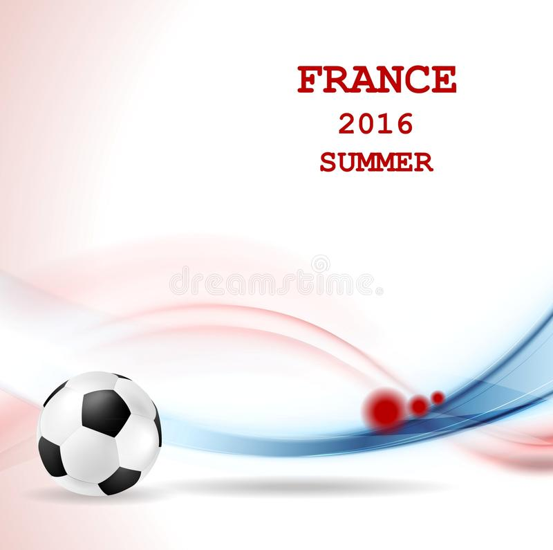 Чемпионат футбола евро в Франции иллюстрация штока